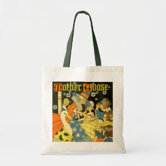 Vintage Mother Goose Reading Books to Children Budget Tote Bag