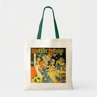 Vintage Mother Goose Reading Books to Children Tote Bag