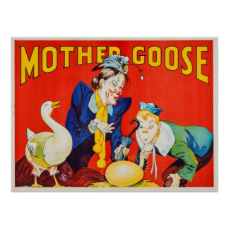 Vintage Mother Goose Theater Poster