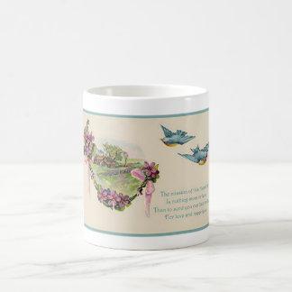 Vintage Mother's Day Bluebirds Coffee Mug