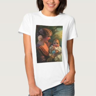 Vintage Mother's Day Family Portrait with Baby T-shirts