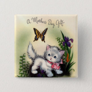 Vintage Mothers Day Square Button