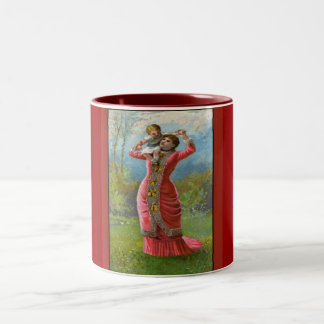 Vintage Mother's Day Sunny Hours Two-Tone Coffee Mug