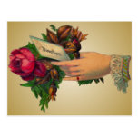 Vintage Mother's Day with Red Flowers Postcard