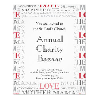 Vintage Mother's Love Mother's Day or Birthday 11.5 Cm X 14 Cm Flyer