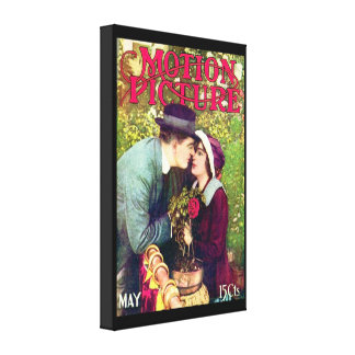 Vintage Motion Picture Stretched Canvas Print