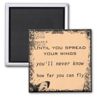 Vintage Motivational Quote Magnet
