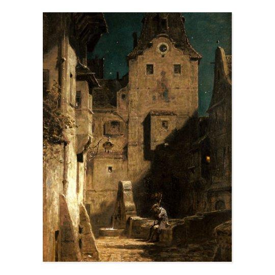 Vintage Motive - Sleeping Nightwatch - Spitzweg Postcard