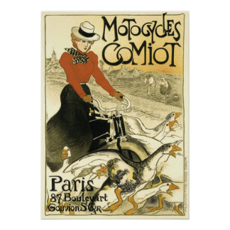 Vintage Motocycles Comiot Poster