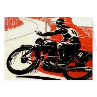 Vintage Motor Bike Race Greeting Card