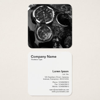 Vintage Motorbike Dials Square Business Card