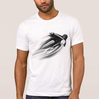 VINTAGE MOTORCYCLE ART, T-SHIRTS.black & white. T-Shirt
