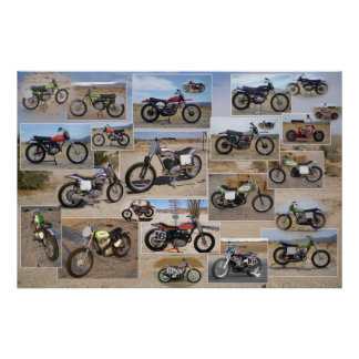 Vintage Motorcycle Collection, 36x24 Matte Poster