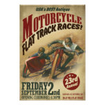 VINTAGE MOTORCYCLE EVENT POSTER