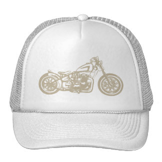 Vintage Motorcycle Illustration Cap