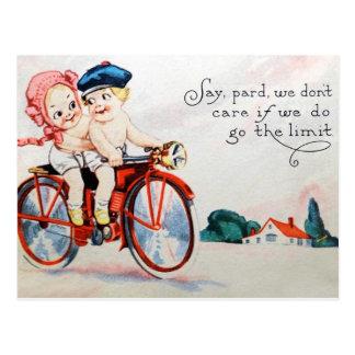Vintage Motorcycle Kids Postcard
