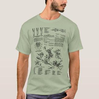 Vintage Motorcycle Manual Illustration Kitsch T-Shirt