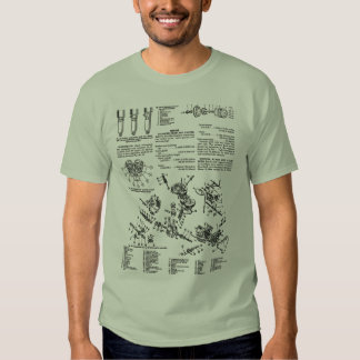 Vintage Motorcycle Manual Illustration Kitsch T-shirts