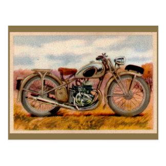 Vintage Motorcycle Print Postcards