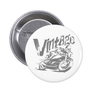 Vintage Motorcycle Racer 6 Cm Round Badge