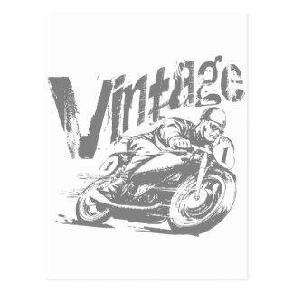 Vintage Motorcycle Racer Postcard
