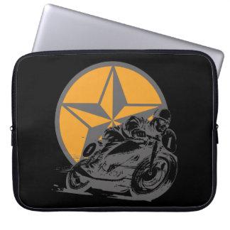 Vintage Motorcycle Racing Circle Star Laptop Computer Sleeves