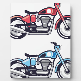 Vintage Motorcycle stylized vector Display Plaque