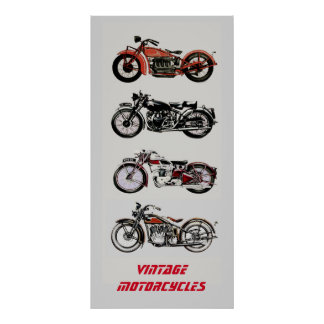 ViNTAGE MOTORCYCLES Poster