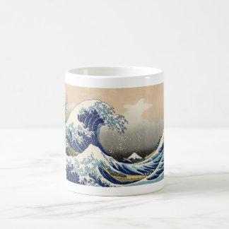 Vintage Mount Fuji and Wave Mugs