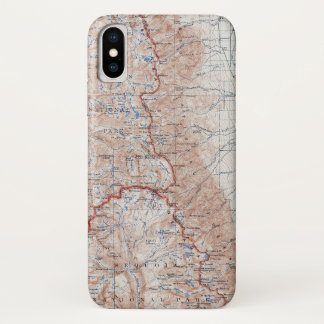 Vintage Mount Whitney Topographical Map California iPhone X Case