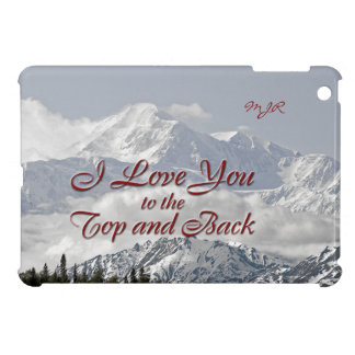 Vintage Mountains: I Love You to the Top and Back iPad Mini Cover