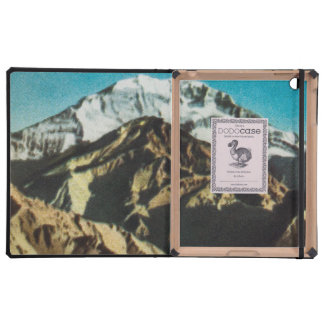 Vintage Mountains Illustration, Old Drawing iPad Covers