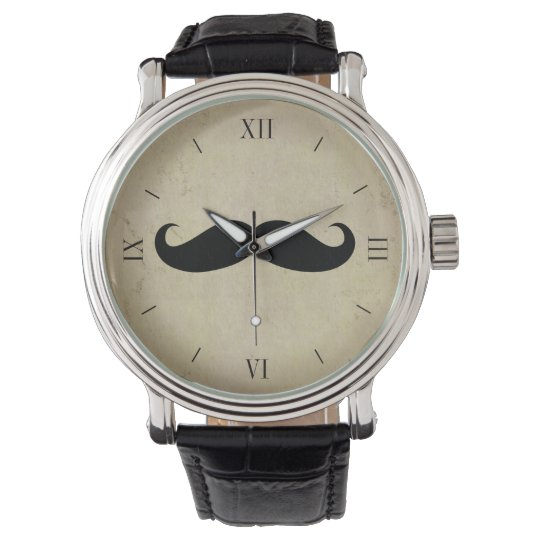 Vintage Moustache Men's Watch