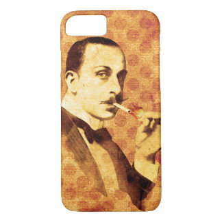 Vintage Moustache smoking man iphone 7 case