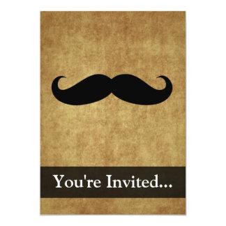 Vintage Moustache w/Custom Text Card
