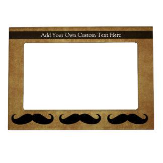 Vintage Moustache w/Custom Text Magnetic Photo Frame