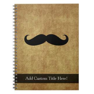 Vintage Moustache w/Custom Text Notebooks