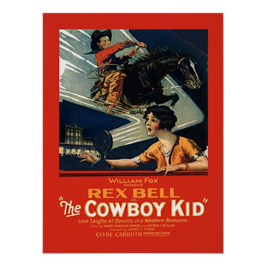 Vintage Movie Advertisement Rex Bell Cowboy Kid Poster