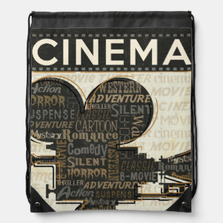 Vintage Movie Camera Drawstring Bag