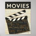 Vintage Movie Clapper Poster