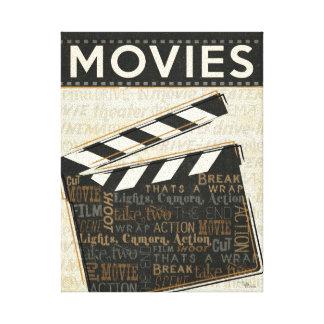 Vintage Movie Clapper Stretched Canvas Prints