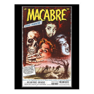 Vintage movie horror - postcard
