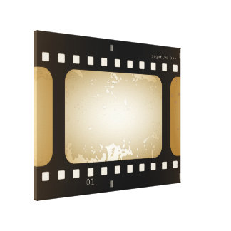 Vintage Movie Photo Film Strip Film Role Canvas Print