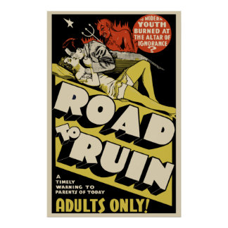 Vintage Movie Poster Art - Road To Ruin