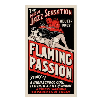 Vintage Movie Poster - Flaming Passion