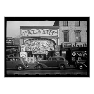 Vintage Movie Theater Photograph Poster