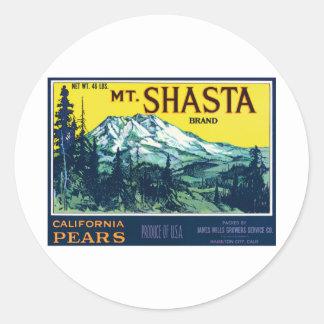 Vintage Mt Shasta California Pears Label