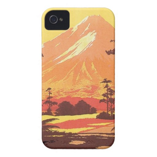 Vintage Mt.Taranaki Mt.Egmont New Zealand iPhone 4 Cases