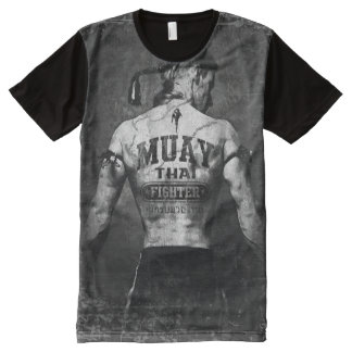 Vintage Muay Thai Fighter All-Over Print T-Shirt