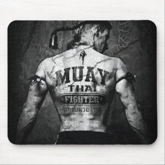 Vintage Muay Thai Fighter Mouse Mat